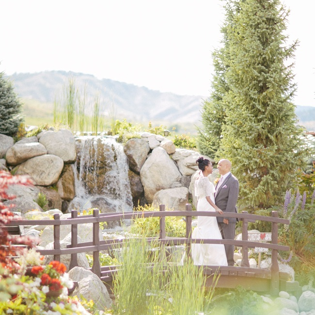 A waterfall feature on the vineyard was the perfect spot for a moment alone.
