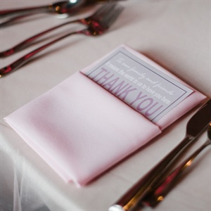 Menu Cards with Light Pink Napkins