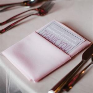 Menu Cards with Light Pink Napkins