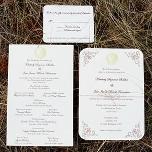 Rustic Apple Invitations and Ceremony Programs