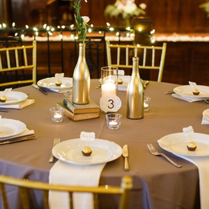 Gold DIY Centerpieces