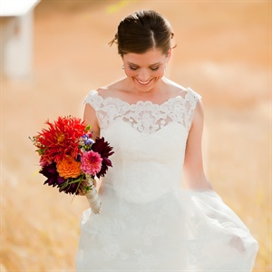 Rustic Lace Wedding Gown