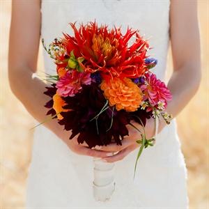 Rustic Dahlia Bridal Bouquet
