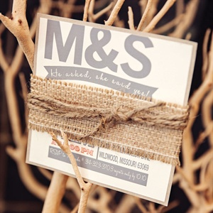 Burlap-Wrapped Save-the-Date