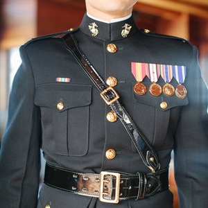 Groom in Dress Blues