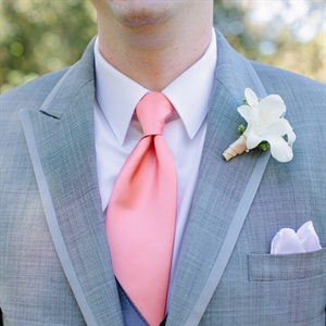 Pink and Gray Formalwear with White Boutonnieres