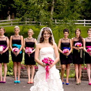Bright Bridesmaid Looks
