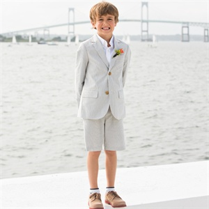 Pinstriped Ringbearer Suit