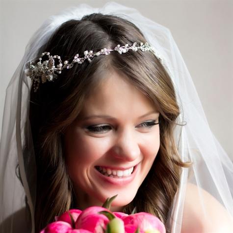 Jewel Headdress and Bridal Veil