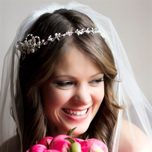 Jewel Headdress and Bridal Veil