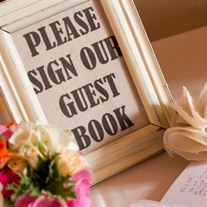 DIY Guestbook Sign in a Frame