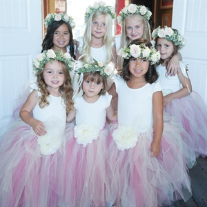 Flower Girls in Tulle