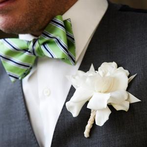 Simple Gardenia Boutonniere