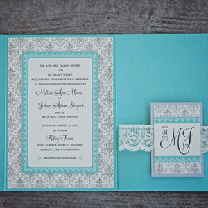 Rustic Blue Invitations