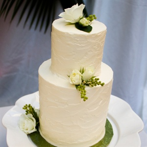 Sophisticated Ivory Buttercream Cake