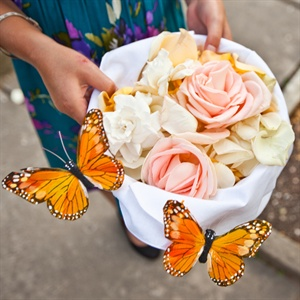 Butterfly Flower Girl's Basket