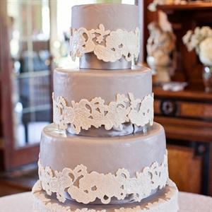 Gray Lace Cake