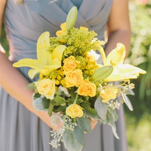 Yellow and Green Bridesmaid Bouquet