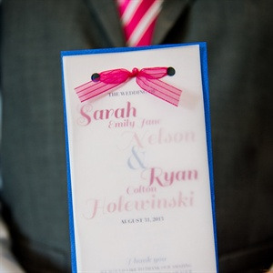 Pink and Blue Ceremony Programs