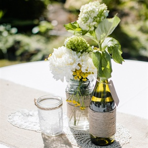 DIY Centerpieces with Mason Jars and Twine