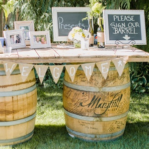 Barrel Signing and Welcome Table
