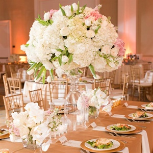 Large Pink and White Centerpieces
