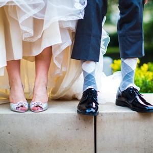 Gray Argyle Wedding Socks
