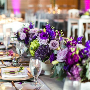 Whimsical Purple Table Decor