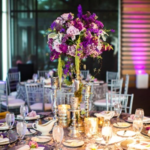 Tall Purple Centerpiece