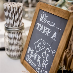 Chalkboard Sign Reception Decor