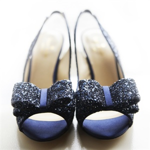 Blue Sparkle Bridal Shoes
