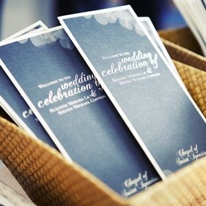 Modern Gray Wedding Program
