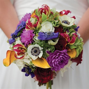 Brightly Colored Bridal Bouquet