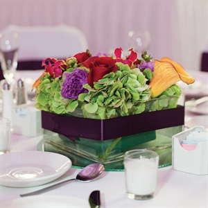 Square Vase Centerpiece