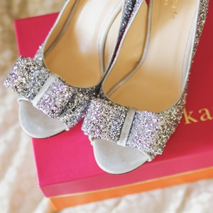 Sparkly Silver Kate Spade Wedding Shoes