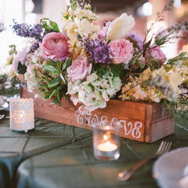 Flower Box Centerpieces