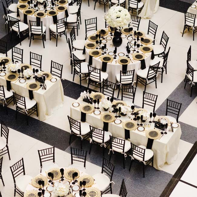 Gold Wedding Reception: Black And Gold Reception Decor
