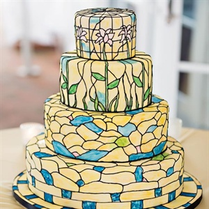 Art Deco Watercolor Cake
