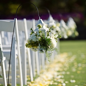 Flower Filled Lantern Ceremony Decor