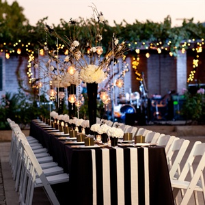 Striped Reception Decor