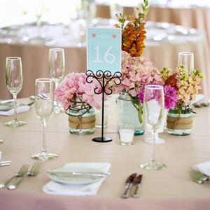 Light Blue Table Number