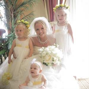 White and Yellow Flower Girls