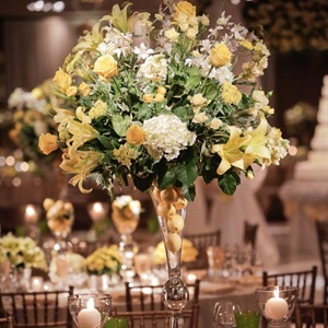 Lemon and Floral Centerpiece