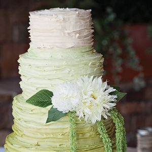 Ruffled Green Wedding Cake