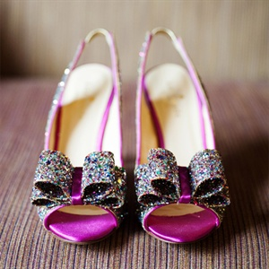 Glittery Kate Spade Bridal Shoes
