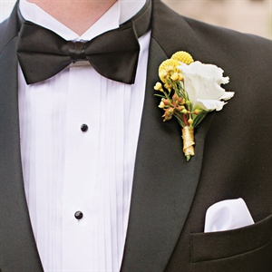 Lisianthus and Billy Ball Boutonniere