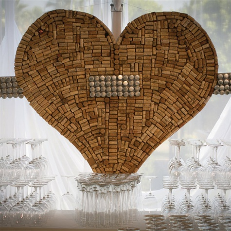 Wine Cork Heart Display