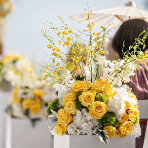 White and Yellow Ceremony Flowers