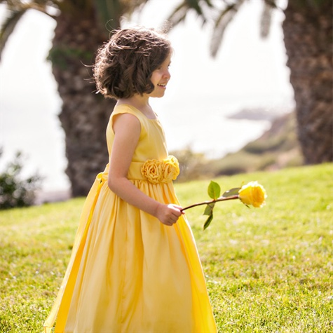 Yellow Flower Girl Dress