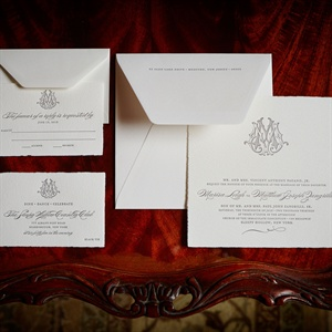 Formal Monogrammed Wedding Invitation Suite